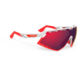 Rudy Project Defender Lunettes, white gloss/red fluo/multilaser red